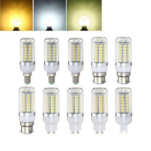 E27 E14 B22 G9 GU10 4.5W 48 SMD 5050 LED Pure White Warm White Natural White Cover Corn Bulb AC220V