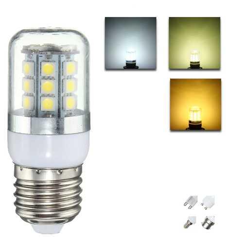 E27 E14 B22 G9 GU10 3W 27 SMD 5050 LED Pure White Warm White Natural White House Corn Bulb AC220V