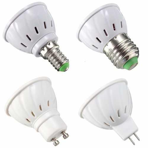 E27 E14 GU10 MR16 LED 3W 36 SMD 2835 LED Pure White Warm White Spot Lightting Bulb AC110V AC220V