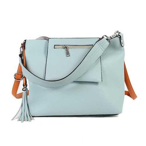 2 Pcs Women Tassel Luxury PU Leather Shoulder Bags Girls Autumn Winter Crossbody Bags