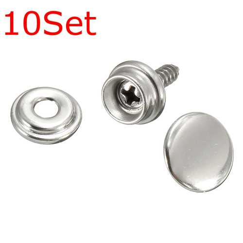 10Set Snap Fastener Screws With Attaching Tool For Boat Marine Canvas Cover