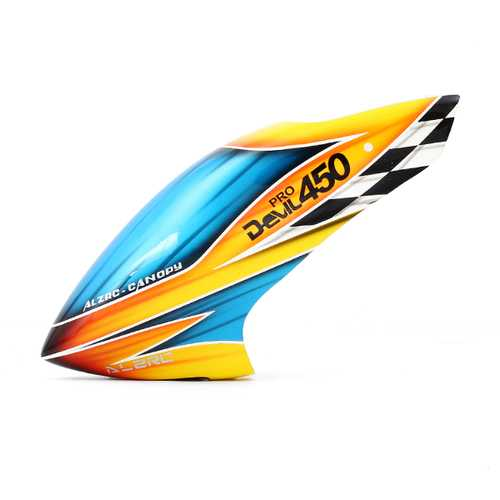 ALZRC Devil 450 Pro V2  RC Helicopter Parts Fiber Glass Canopy Yellow