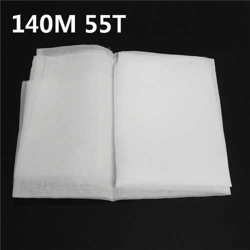 140M 55T Polyester Silk Screen Printing Mesh Fabric Sheet