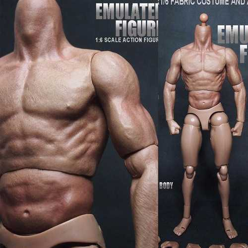 "1/6 Scale Action Figure Male Nude Muscular Body 12"" Plastic Toy for TTM18/19"