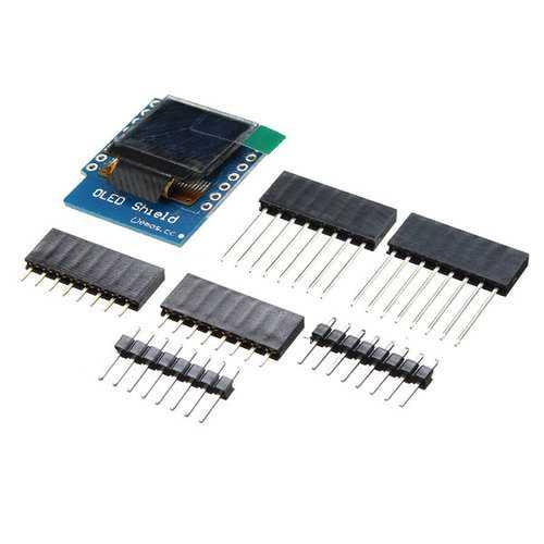 0.66 Inch OLED Display Shield For D1 Mini 64X48 IIC I2C