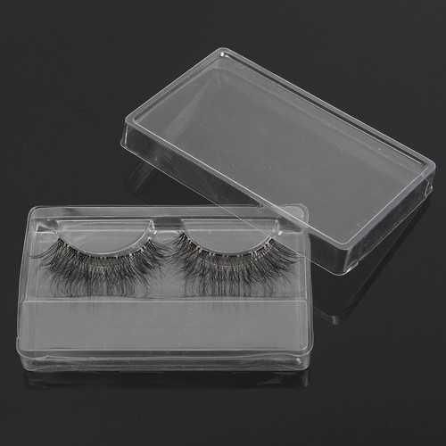 1pc False Eyelashes Packing Box Clear Transparent Reusable Portable Eye Makeup Tools