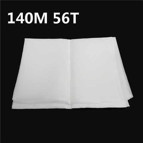 140M 56T Polyester Silk Screen Printing Mesh Fabric Sheet 3 Yards