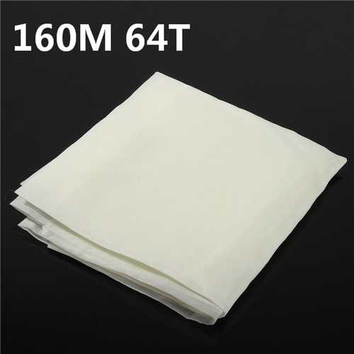 160M 64T Polyester Silk Screen Printing Mesh Fabric Sheet Frame