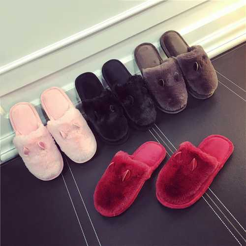 Home Shoes Couple Indoor Keep Warm Cotton Comfortable Casual Slipper