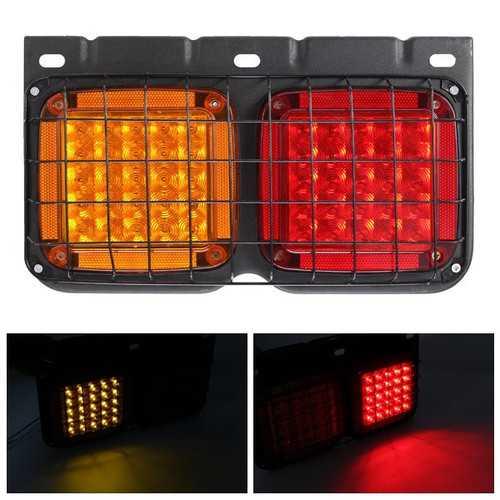 1.5W 12V/24V LED Truck Tail Light Trailer Brake Lamp Reverse Indicator Universal