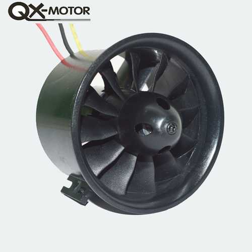 QX-Motor QF2827(9) 70mm 12 Blades Ducted Fan With 2827-2849 2600KV Brushless Motor