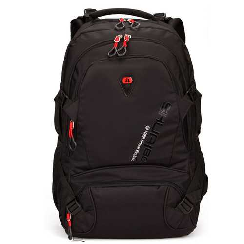 28L Men Large Capacity Outdoor Travel Polyester Casual Student Laptop Backpack