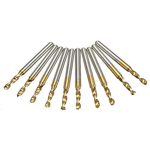 10pcs 3.175mm Shank 2.5mm HSS Titanium Coated Drill Bits PCB Drill
