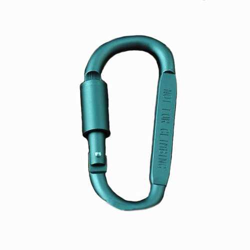 1Pcs Outdoor D Shape Carabiner Bottle Hanging Buckle Hook Keychain Screw Lock Aluminum Alloy