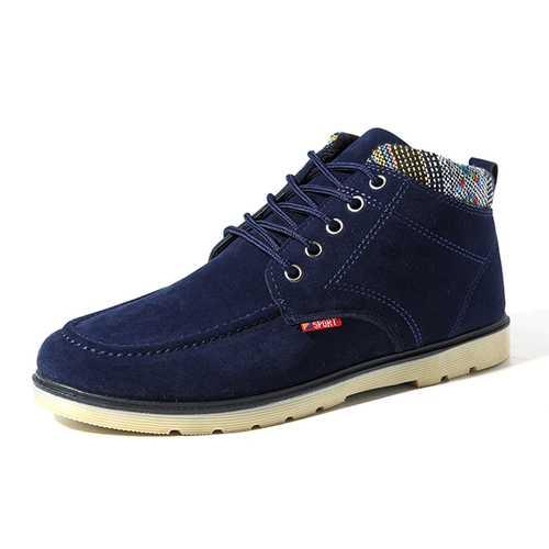 Men Comfortable Soft Sole Suede Warm Ankle Boots