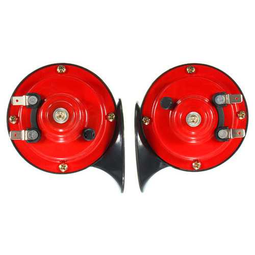 12V Loud Car 135DB 510hz Dual Tone Snail Air Horn Siren Motorcycle Car Boat