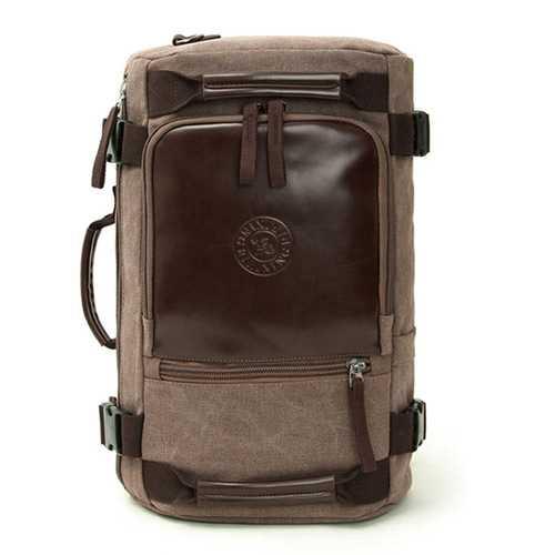 Canvas Large Capacity Retro Travel Backpack Laptop Crossbody Bag