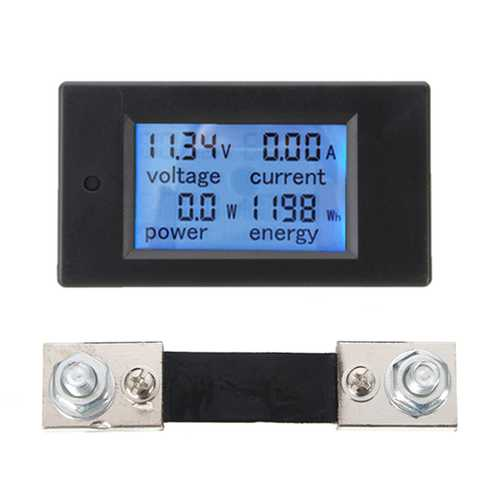 100A DC Multifunction Digital Power Meter Energy Monitor Module Volt Meterr Ammeter
