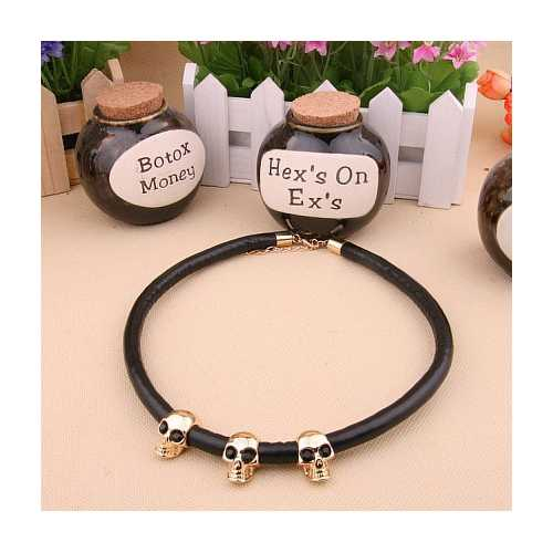 Creative Skull Alloy Collar Sweater Chain Collar Necklaces