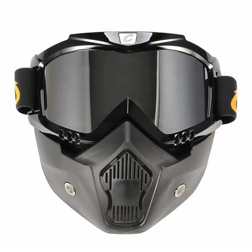Cyclegear CG03 Windproof Dustproof Helmet Goggles With Removable Mask Mountain Bike Motorcycle Riding