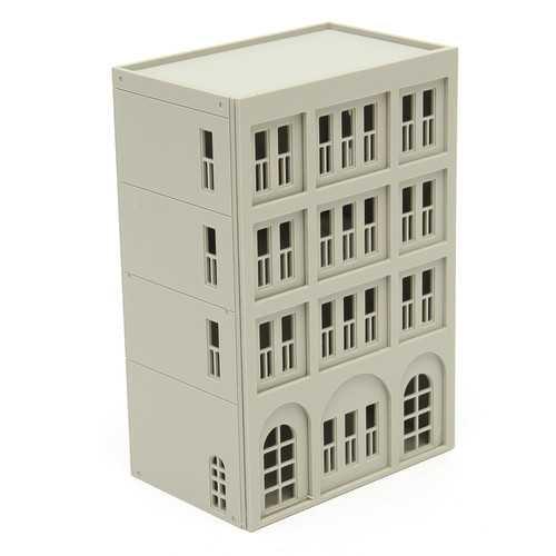 Models Railway Modern 4-Story Office Building Unpainted Scale 1:160 N FOR GUNDAM