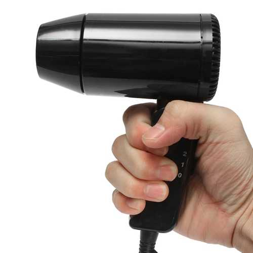 Foldable 12V 216W Car Use Hair Blow Dryer Heat Blower Hot & Cold Wind Carvan Travel Camping