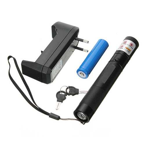 XANES GD17 301 532nm Focusing Visible Beam Green Laser Pointer Pen 18650 Suit Set