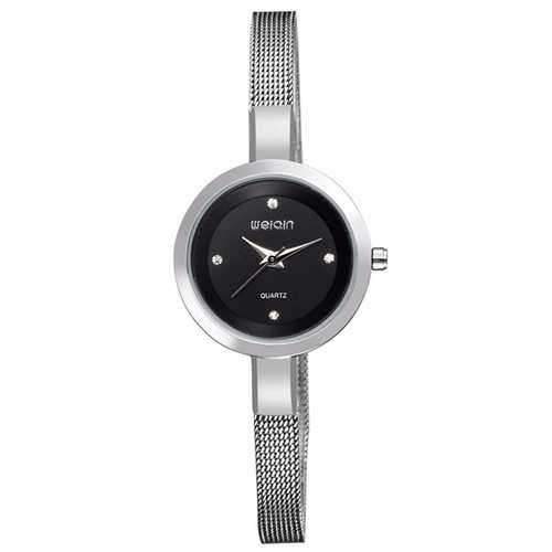 WEIQIN W4807 Ladies Women Luxuey Bracelet Watch Crystal Diamond Fashion Mesh Strap Wrist Watch