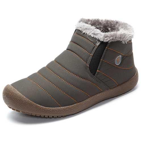 Big Size Winter Unisex Cotton Snow Boots Keep Warm Outdoor Plush Flat Shoes