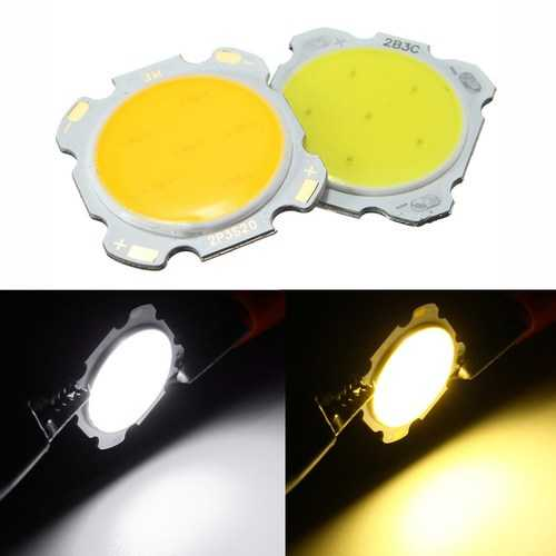 3W DIY LED COB Chip High Power Bead Light Lamp Bulb White/Warm White DC9-12V