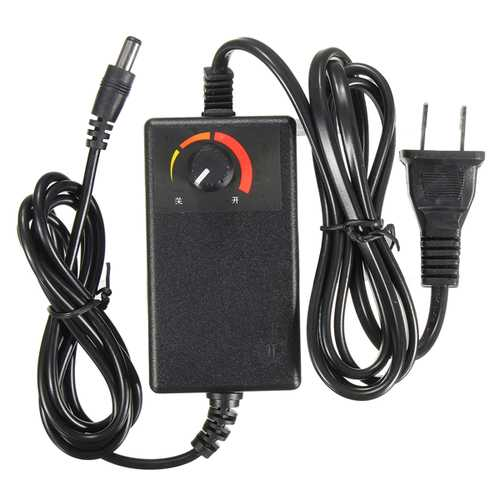 Adjustable Switching AC/DC Adapter 24-36V 1A Power Supply Speed Controller