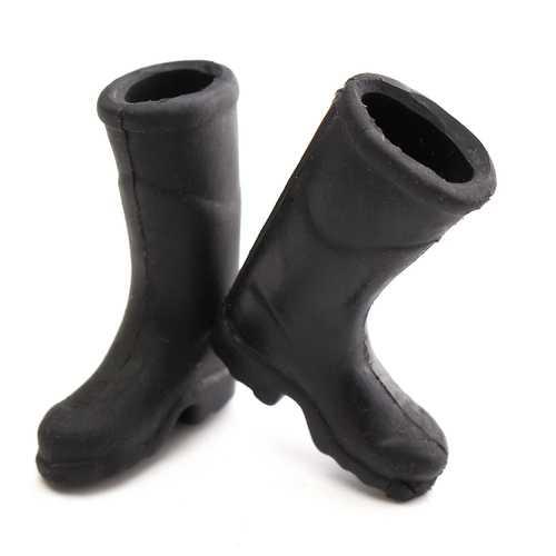 1:12 Black Mini Rain Boot Dollhouse Miniature Furniture Accessories For Dollhouse