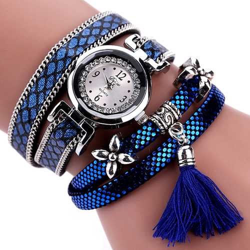 DUOYA Fashion Serpentine Pattern Strap Ladies Bracelet Watch Casual Women Quartz Watch