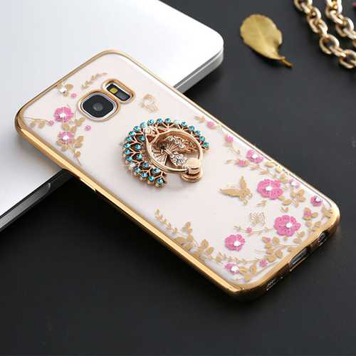 360 Degree Clasp Ring Holder TPU Soft Back Case Cover For Samsung Galaxy S7 G9300
