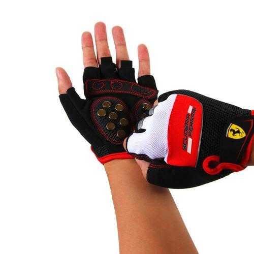 Skating Gloves Night Riding Breathable Gloves Reflective Strip Mesh Material