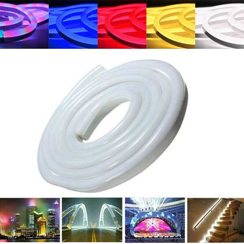 3M 2835 LED Flexible Neon Rope Strip Light Xmas Outdoor Waterproof 220V