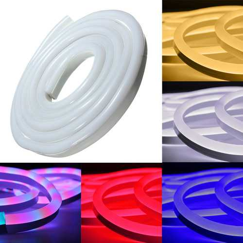 5M 2835 LED Flexible Neon Rope Strip Light Xmas Outdoor Waterproof 220V
