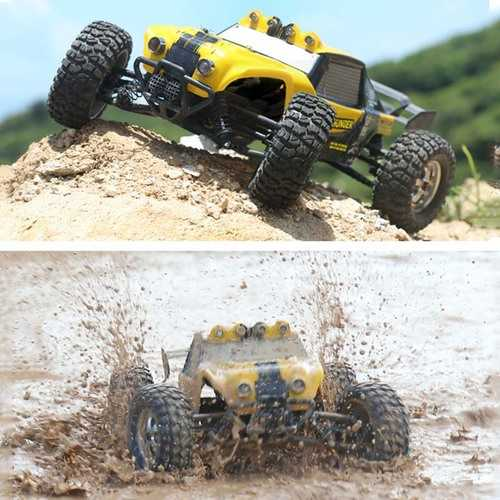 HBX 12891 1/12 4WD 2.4G Waterproof Hydraulic Damper RC Desert Off-Road Truck with LED Light