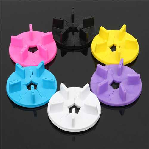 6 Colors Nail Art Display Tips Stand Holder Practice Frame Manicure Tools