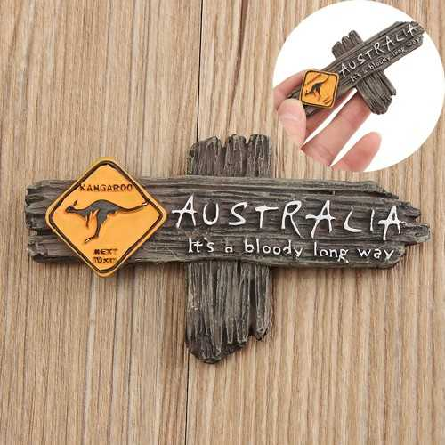 Bloody Long Way Australia Kangaroo Resin Souvenir 3D Fridge Magnet