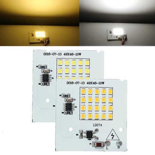 10W SMD2835 Outdooors Smart IC LED Bulbs COB Chip Bead Flood Light Lamp 220V