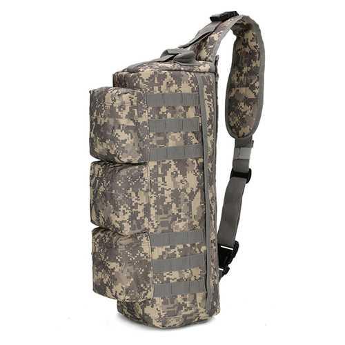 Men Nylon Tactical Outdoor Sport CS Crossbody Bag Hiking Chest Bag
