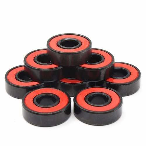 Machifit 8pcs Rotation Speed Skateboard Bearings ABEC-7 608RS Steel Bearings