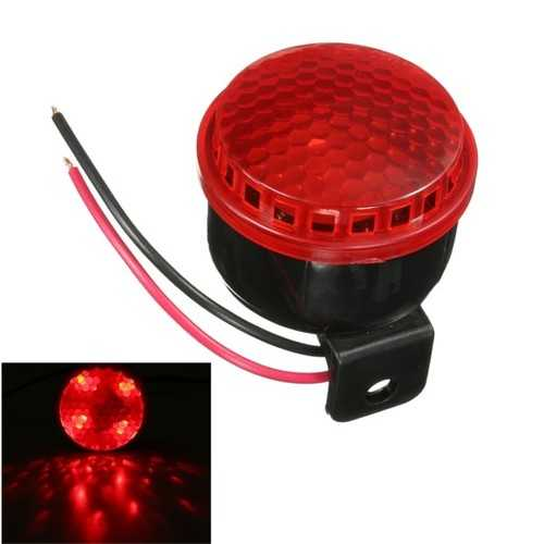 12V 125db Motorcycle Car Truck Brake Stop Reverse Turn Alarm Horn With Red LED Light