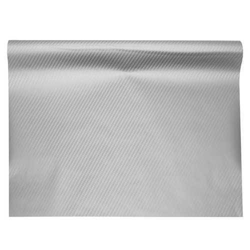 3D Motorcycle Silver Carbon Fiber Vinyl Decal Roll Car Wrap Stickers Sheet Film