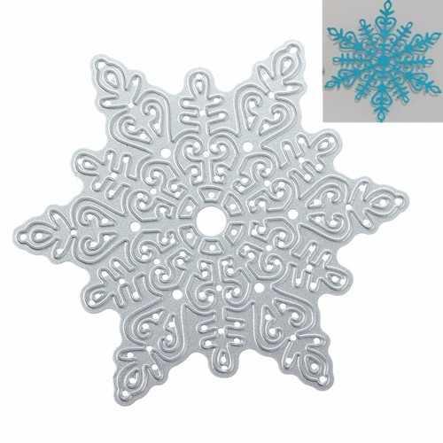 Metal Snowflake Christmas Cutting Dies DIY Scrapbooking Album Paper Card Decor