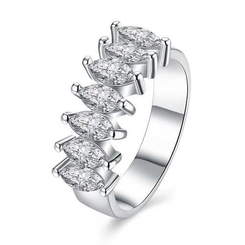 INALIS Platinum Plated Rhinestones Gift Wedding Jewelry Finger Rings