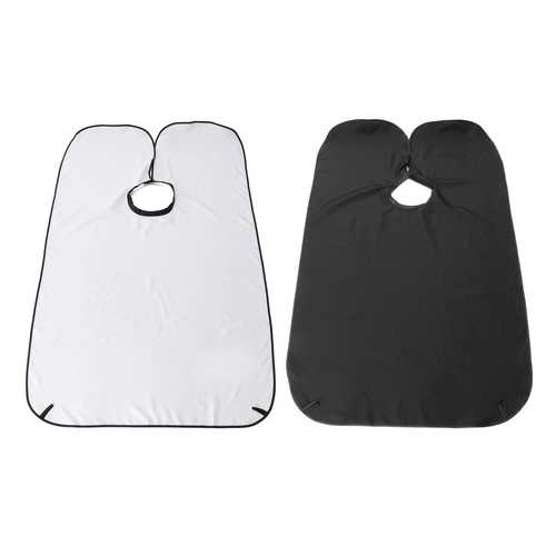 90x130cm Beard Trimming Catcher Shave Cape Gather Cloth Hair Apron Suction Cups