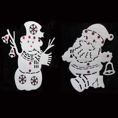 50x40cm Santa Claus Snowman Window Decals Christmas Decoration Christmas Tree Pendant Ornament
