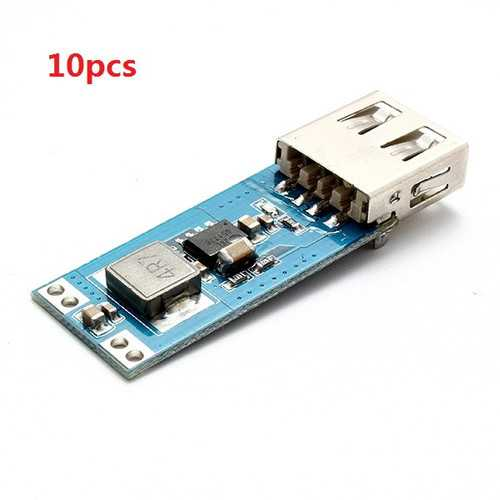 10pcs DC-DC Boost Step Up Module 2.5V-5.5V Input 5V/2A Output
